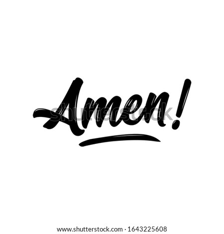 Amen - Hand written Vector calligraphy lettering text in cross shape.  Stock photo © Zsuskaa