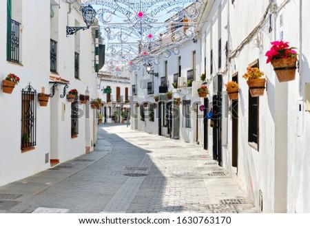 Witte straat klein beroemd dorp Spanje Stockfoto © amok