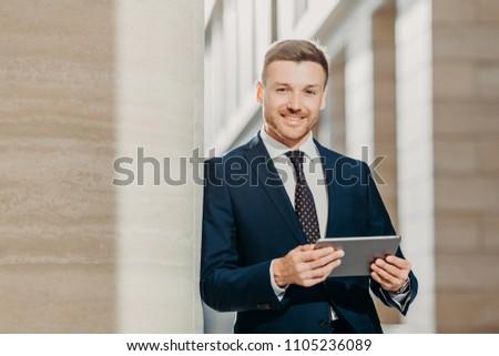 красивый мужчины менеджера электронная почта базы Сток-фото © vkstudio