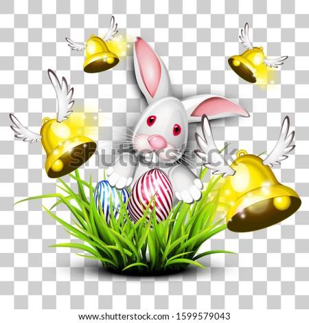 Joyeuses pâques oeuf lapin transparent isolé vecteur Photo stock © tilo