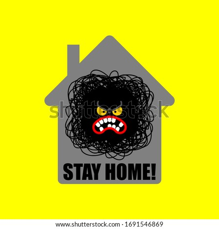 Permanecer casa enojado molestia casa coronavirus Foto stock © popaukropa