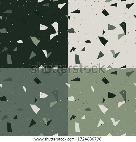 Emerald green stone pebbles as abstract background texture, land Stock photo © Anneleven