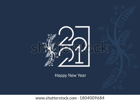 Christmas, New Years black floral background, holiday card desig Stock photo © Anneleven