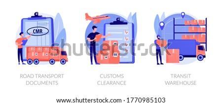 Goods import legal permission abstract concept vector illustrations. Stock photo © RAStudio