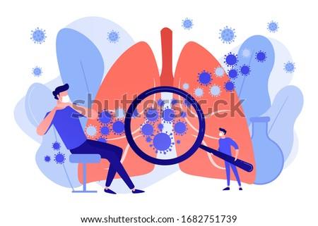 Covid-2019 panic, symptoms and treatment concept vector illustra Stock photo © RAStudio