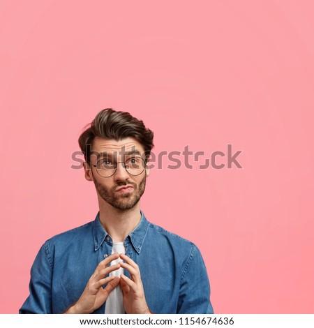 Vertical retrato bonito masculino restolho formal Foto stock © vkstudio