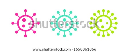 Stop Coronavirus Design with Covid-19 Virus in Microscopic View on Light Background. Vector 2019-nco Stock photo © articular