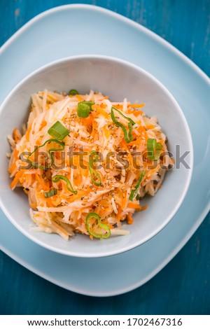 Dietetyczny marchew Sałatka sezam zdrowa żywność żywności Zdjęcia stock © brebca