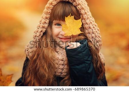 прелестный девочку осень лес улыбка моде Сток-фото © Lopolo