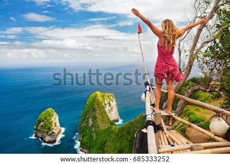 семьи отпуск жизни счастливым женщину стоять Сток-фото © galitskaya