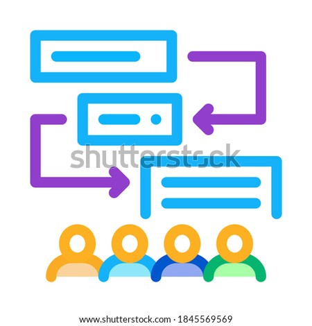 replacement components of algorithm icon vector outline illustration Stock photo © pikepicture
