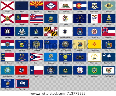 Vector set of flags of the American state of Illinois in different designs Stock photo © butenkow