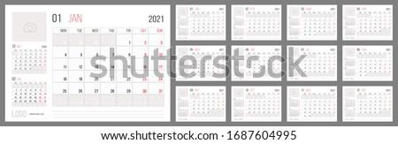 Takvim yıl hafta levha karanlık siyah Stok fotoğraf © evgeny89