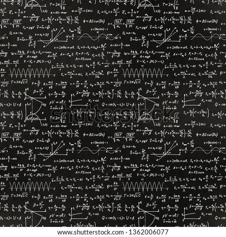 Básico matemáticas fórmulas blanco tiza escuela Foto stock © evgeny89