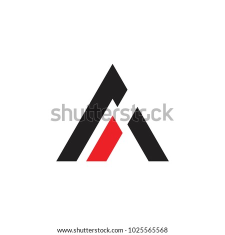 Letter A or mountains triangle business logo design. Technology business identity concept. Creative  Stock photo © kyryloff