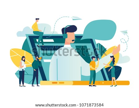 Obsługa klienta badanie badanie cartoon kobieta Zdjęcia stock © barsrsind