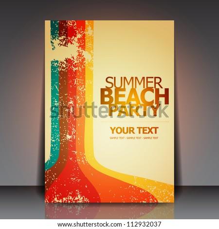 вектора лет пляж вечеринка Flyer дизайна Сток-фото © articular