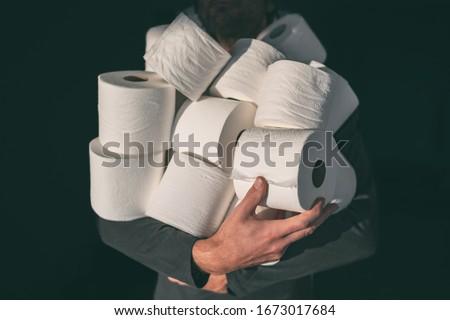 Coronavirus panic buying shopping shortage of sanitizing products hand sanitizer gel bottles, masks, Stock photo © Maridav