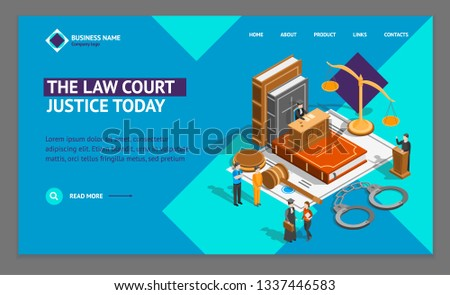 Court Gavel Law And Judgement isometric icon vector illustration Stock photo © pikepicture