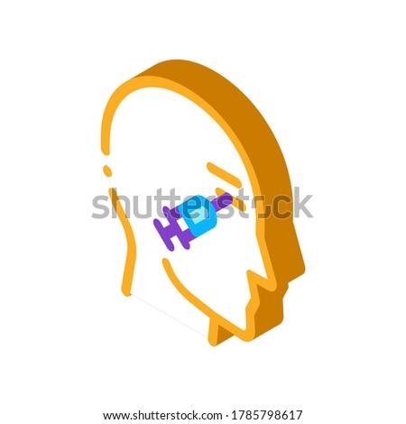 Cosmetici iniezione occhi isometrica icona vettore Foto d'archivio © pikepicture