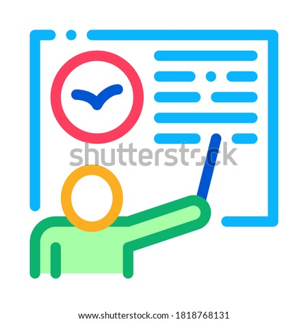Teacher Talking About Bird Icon Thin Line Vector Stock photo © pikepicture