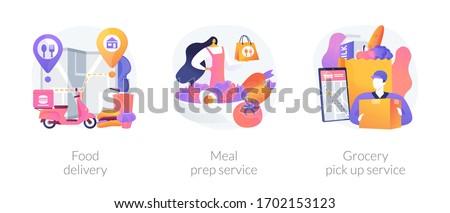 Quarantine food essentials supply abstract concept vector illustrations. Stock photo © RAStudio
