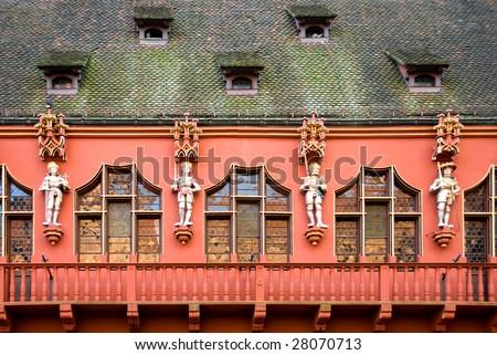 balcony at Freiburg im Breisgau Stock photo © prill