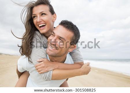 Retrato amor playa Foto stock © HASLOO