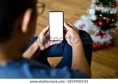 Zakenman mobiele telefoon kantoor man pak mobiele Stockfoto © photography33