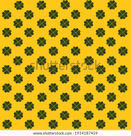 A yellow leaf in the shape of a heart lays on green clover ground cover. Stock photo © Sportlibrary