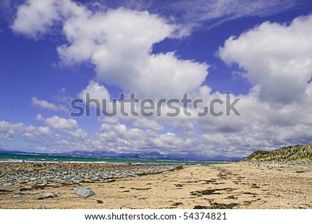 Stunning view of welsh coastline taken from Shell Island, North Wales Stock photo © pixelmemoirs