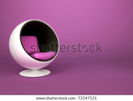 минимализм кресло фиолетовый Поп-арт служба моде Сток-фото © Victoria_Andreas