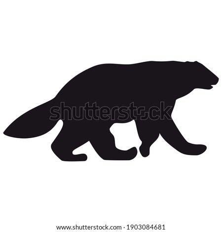 Graphic Vector Image of a Wolverine or Badger Mascot with Fighti Stock photo © chromaco