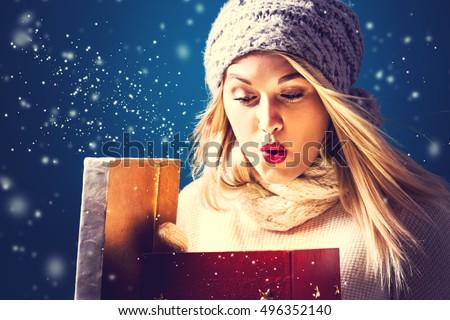 bella · giovani · ragazza · Natale - foto d'archivio © dmitri_gromov