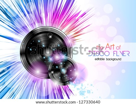 disco club flyer with a lot of abstract colorful design elements ideal for poster and music backgro stock photo © davidarts