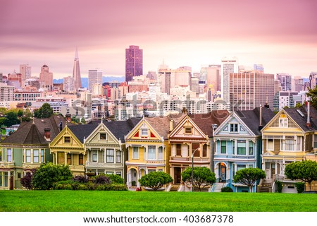 The Painted Ladies of Alamo Square in San Francisco, United-Stat Stock photo © bigjohn36