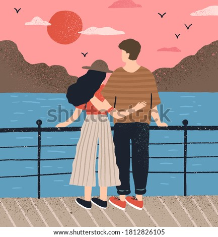 Young couple standing back to back having relationship difficult Stock photo © dacasdo