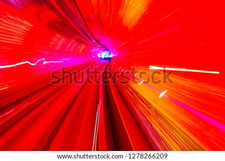 Red Yellow Rail Abstract Underground Railway Bund Shanghai China Stock photo © billperry