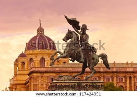 statue of archduke charles of austria heldenplatz vienna aust stock photo © bertl123