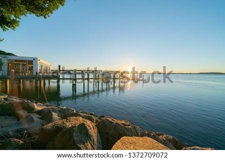 Stock photo: Bridge or pier across an expanse of sea