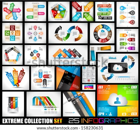Infographic template collections with a lot of different design elements to use to display your stat Stock photo © DavidArts