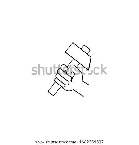 Névjegy építész ács tart kalapács épület Stock fotó © patrimonio