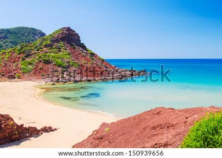 View on Mediterranean sea from Cala del Pilar beach at Menorca,  Stock photo © tuulijumala