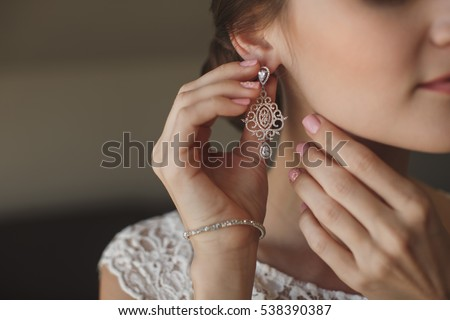 girl with face expression takes out jewelery from jewelry box Stock photo © feelphotoart