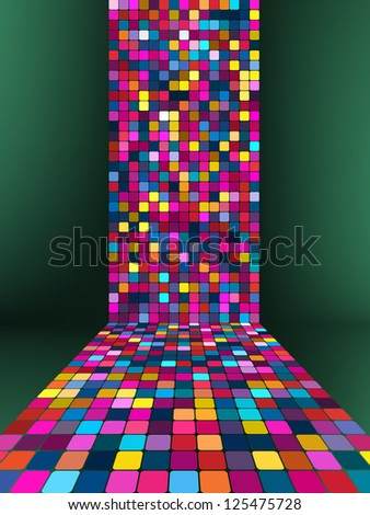 Coloeful squares bright mosaic with light. EPS 8 Stock photo © beholdereye