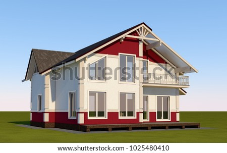крыши · Windows · дымоход · плиточные · текстуры · древесины - Сток-фото © cherezoff