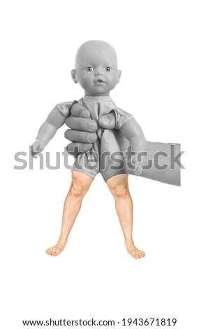 bebê · brinquedo · não · marca · registrada · isolado · branco - foto stock © michaklootwijk