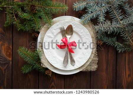 Christmas decoratie ruimte tekst rustiek houten Stockfoto © Valeriy