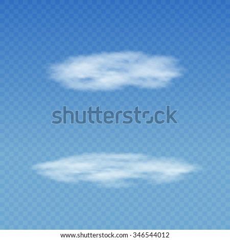 セット 現実的な 透明な 白 雲 ストックフォト © Fosin