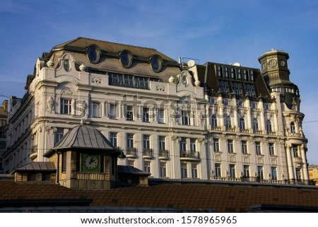 facade of buildings of the 19th century in vienna, living room o Stock photo © meinzahn